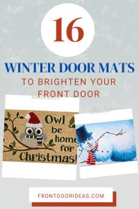 holiday door mats