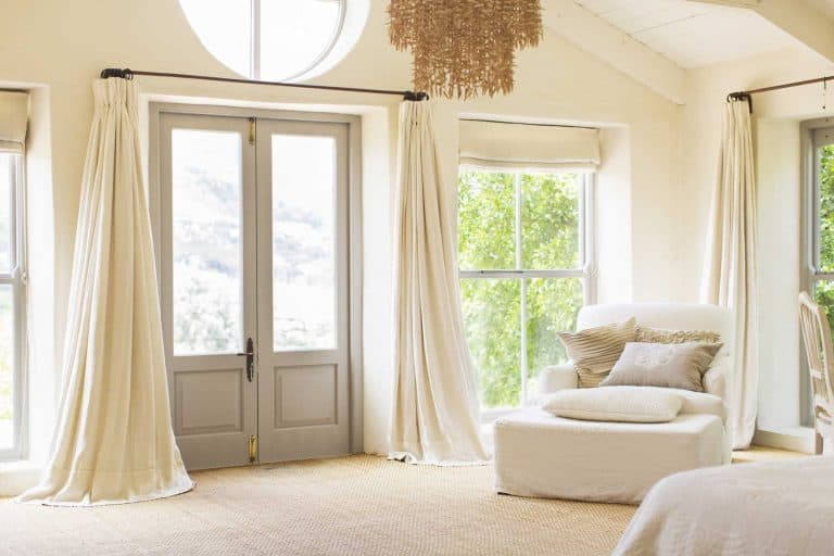 Front door curtain ideas
