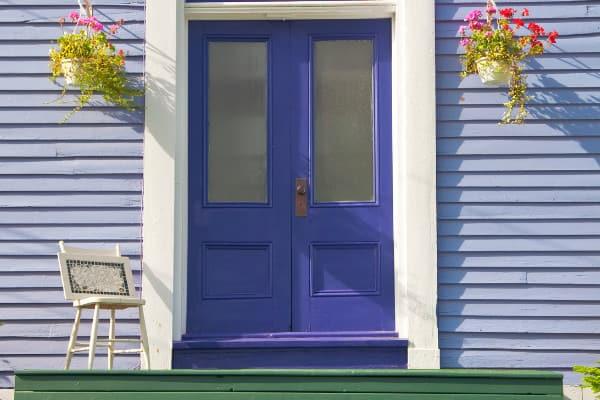purple front door meaning