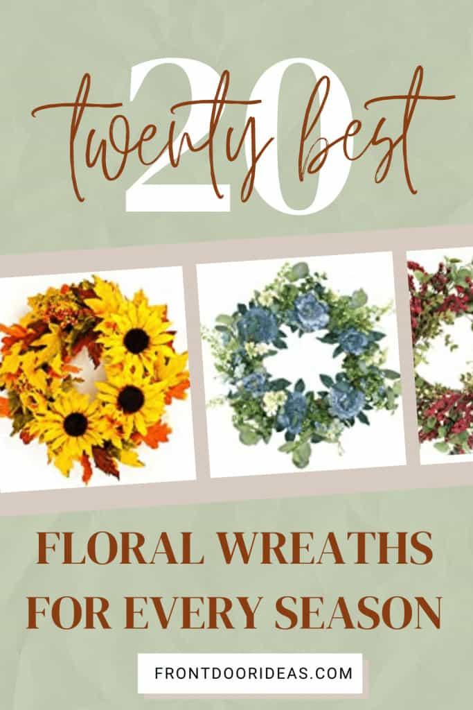 floral wreaths for front door