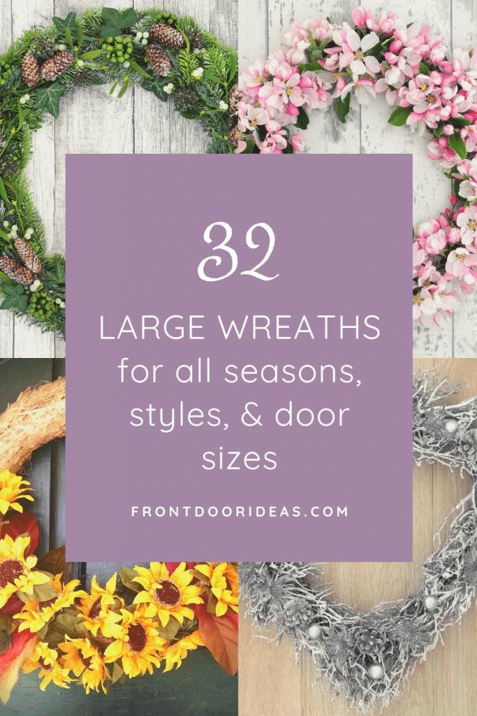 large front door wreaths